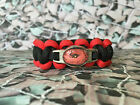 Remembrance Day 550 Paracord Survival Bracelet /Dog Collar Poppy 10% Charity RBL