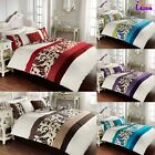 NEW LUXURY DUVET SET COVER WITH PILLOW CASES QUILT COVER BEDDING SCROLL ALL SIZE
