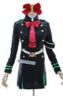 MN-07 Seraph of the End Shinoa Hiragi schwarz Anzug Kleid Uniform Cosplay Kostüm
