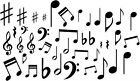 Music Notes Vinyl Wall Decal Stickers Lot Of 40 Notes Home Decor