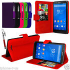 6 Colour Leather Stand Wallet Flip Phone Case Cover For Sony Xperia E4