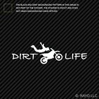 Motorcross Superman Dirt Life Sticker Die Cut Decal freestyle extreme stunting