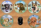 BEAUTIFUL DOG BREED ROUND MOUSEMAT IDEAL GIFT LABRADOR RETRIEVER GERMAN SHEPHERD