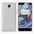 OnePlus 3 / 3T / Three Black Clear TPU Gel Case Cover Skin with Screen Protector