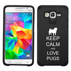 For Samsung Core / Grand Prime Shockproof Impact Hard Case Keep Calm Love Pugs