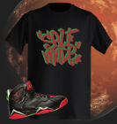 T shirt to rock with Jordan Shoe Retro 7 Martian Red and Green Self Made Tag NWT