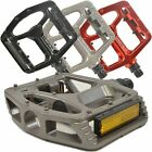 Lumintrail Big Foot Bike Pedals Road MTB BMX Aluminum Alloy Flat Platform 9/16""