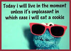 Cookie Monster live in the moment funny Men's T SHIRT 8 colours 6 sizes