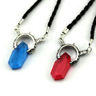 NEW Devil May Cry 5 Blue Red Crystal Cord Chain Pendant Necklace Cosplay Prop