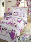 Hoot Quilt Cover Bedding Sets, Girls, Owls - Single, Double or Curtains