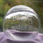 Glass Ball Globe Decorative Ornament with Free Personalised Engraving (optional)