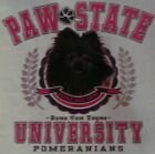 PAW STATE UNIVERSITY DOG BREEDS  BLACK POMERANIAN SHIRT