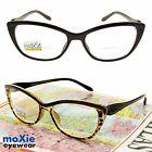 BIFOCAL READING GLASSES WOMEN'S Attractive Brown, Black Sexy Specs moXie nwt