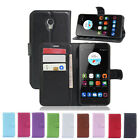 Flip Magnetic Card Slot Wallet PU Leather Case Stand Cover Skin For ZTE Blade V7