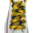 """52"""" Thick Sneakers Athletic Shoelace String Yellow/Black Shoelaces 1,2,12 Pairs"""