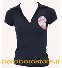 With it polo donna blu t-shirt maglia