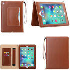 Top PU Leather Strap Portable 3 Card Slots Stand Slim Case Smart Cover For iPad