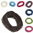 3m/5m Real Leather Necklace Charms Rope Thread Cord For Jewelry Making 1-3mm New