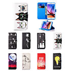 New Colored Drawing Leather Magnetic Stand Case Cover for Samsung Galaxy S6 edge