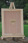 14x18 Alternative Custom Shadow Box Frame and Heart Guest Book Wedding Drop Top