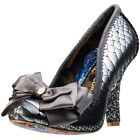 Irregular Choice Ascot Womens Shoes Silver New Shoes