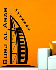 Burj Al Arab Jumeirah Hotel Dubai Landscape Art Vinyl Wall Sticker Decal Bedroom