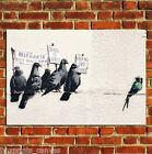 BANKSY GRAFFITI IMMIGRATION POSTER QUALITY WALL ART PRINT PICTURE A4 A3 A2