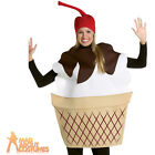 Adult Ice Cream Sundae Costume Unisex Funny Fancy Dress Outfit New