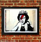 BANKSY ZIGGY QUEEN BOWIE POSTER FRAMED WALL ART PRINT PICTURE SMALL MEDIUM LARGE