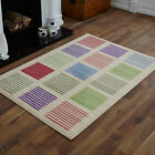 SMALL GREEN RED CREAM BLUE MEDIUM MODERN STRIPES PATTERN CHEAP RUGS 60 X 120 CM