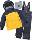 Deux par Deux Boys' 2-Piece Snowsuit Expedition #Brrr! Yellow, Sizes 3-12