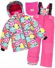 Deux par Deux Girls' 2-Piece Snowsuit Perce-Neige Fushia, Sizes 2-10