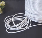 10 yds / 9 mtr White Elastic Thread Drawcord Round Elastic Cord 2mm width ET5