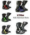 NEW STYLE KIDS XTRM ADVENTURE MOTORBIKE MOTORCYCLE RACING ARMOUR SPORTS BOOTS