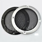 1pcs 3''/2'' Silver /Black Circle Speaker Cover Decor With Protective Grille