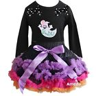 Halloween Pettiskirt Tutu Ghost Black Black Tee Party Dress Outfit