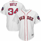 David Ortiz Red Sox 2016 Cool Base Majestic White Jersey with Retirement Patch
