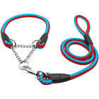 Martingale Rope Braided Dog Training Collar & Leash Set for Labrador Rottweiler