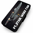 #1 Star Wars Fan . Printed Faux Leather Flip Phone Cover Case
