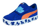 Puma S Vulc Tom and Jerry Kids Velcro Suede Trainers / Shoes - Blue