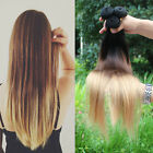 """14""""-28"""" Ombre Remy Straight/Natural/Body Wave Human Hair Weft Extensions 50g"""