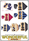 Mens Fashion Polyster Neck ties and Bowtie Pocket Square 3pcs Set for Gift