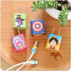 Cartoon Sticker Decal Skin Cover for iPhone 4 5 5S 6 6S 7 8 Plus Charger Cable