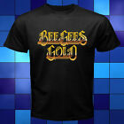 New Bee Gees Gold Logo Rock Band Black T-Shirt Size S M L XL 2XL 3XL image