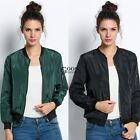 Classic Womens  Quilted Jacket Short Padded Bomber Jacket Co