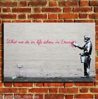 BANKSY LIFE ETERNITY CANVAS WALL ART BOX PRINT PICTURE SMALL/MEDIUM/LARGE