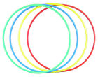 Childrens Indoor Activity Ring One Piece Flat Hula Hoop Assorted Colours Single