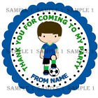 Personalised Football Stickers for Sweet Cones/party bags Etc Ref BYS03-01