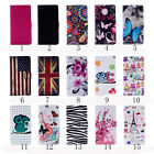 Card Slot Holder PU Leather Flip Wallet Case Stand Cover Butterfly For LG K5