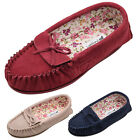 Lambland Womens / Ladies Suede Moccasin Slipper with Attractive Cotton Lining